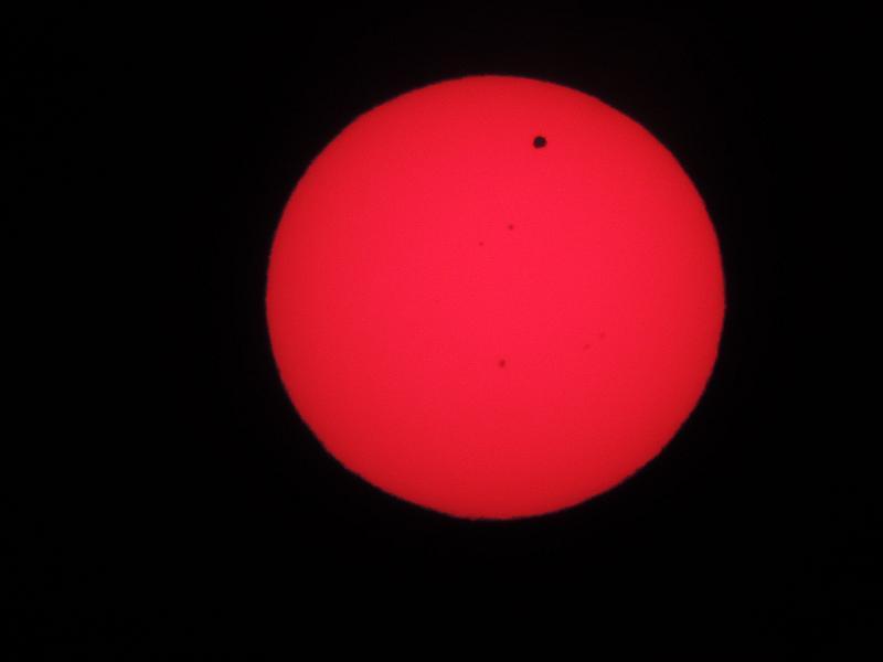 SOLAR eclipse of VENUS 06.06.2012 with  NIKON P510 Vs11