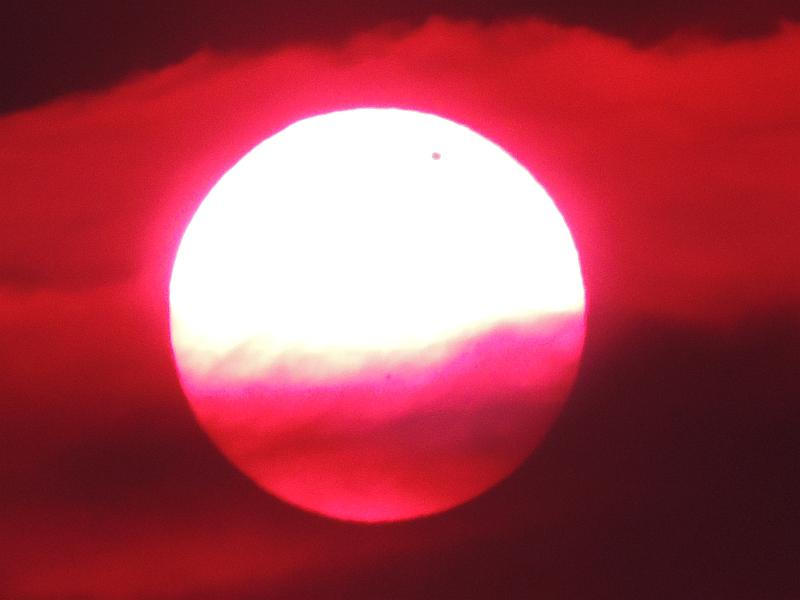 SOLAR eclipse of VENUS 06.06.2012 with  NIKON P510 Vs20